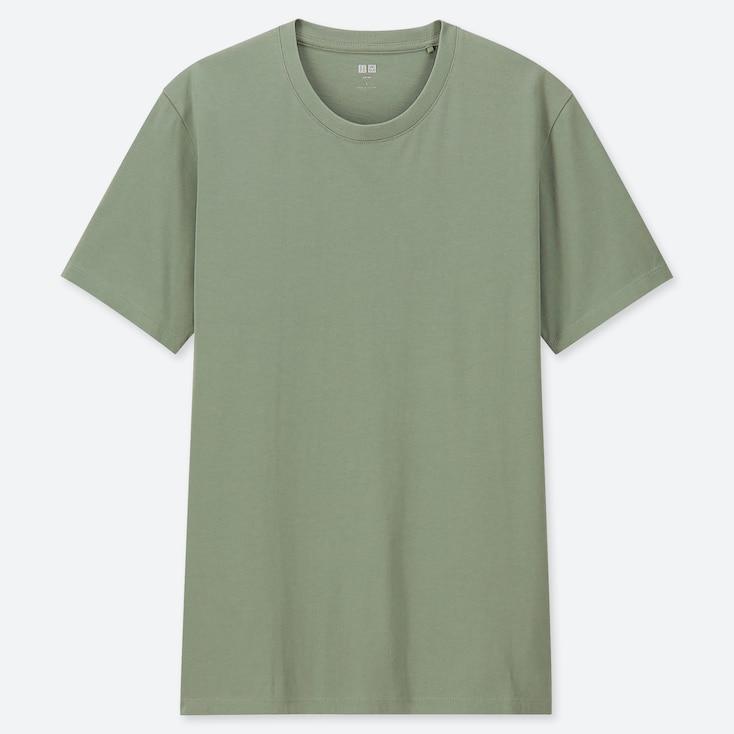 MEN SUPIMA® COTTON CREWNECK SHORT-SLEEVE T-SHIRT, GREEN, large