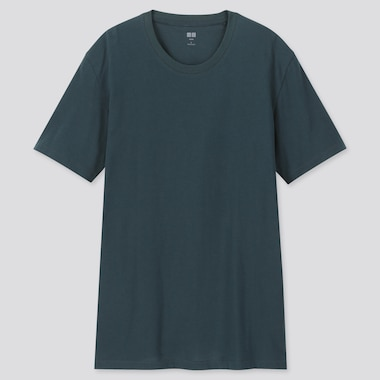 MEN SUPIMA® COTTON CREWNECK SHORT-SLEEVE T-SHIRT, DARK GREEN, medium