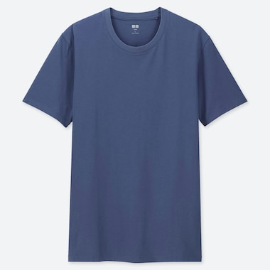 Men Supima© Cotton Crewneck Short-Sleeve T-Shirt, Blue, Medium