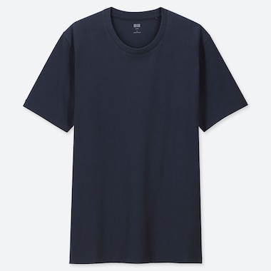 Men Supima© Cotton Crewneck Short-Sleeve T-Shirt, Navy, Medium