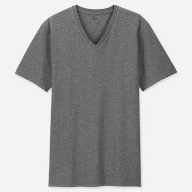 Men Supima© Cotton V-Neck Short-Sleeve T-Shirt, Dark Gray, Medium