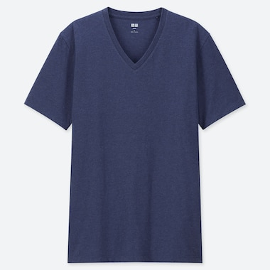 Men Supima© Cotton V-Neck Short-Sleeve T-Shirt, Blue, Medium