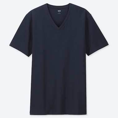 Men Supima© Cotton V-Neck Short-Sleeve T-Shirt, Navy, Medium
