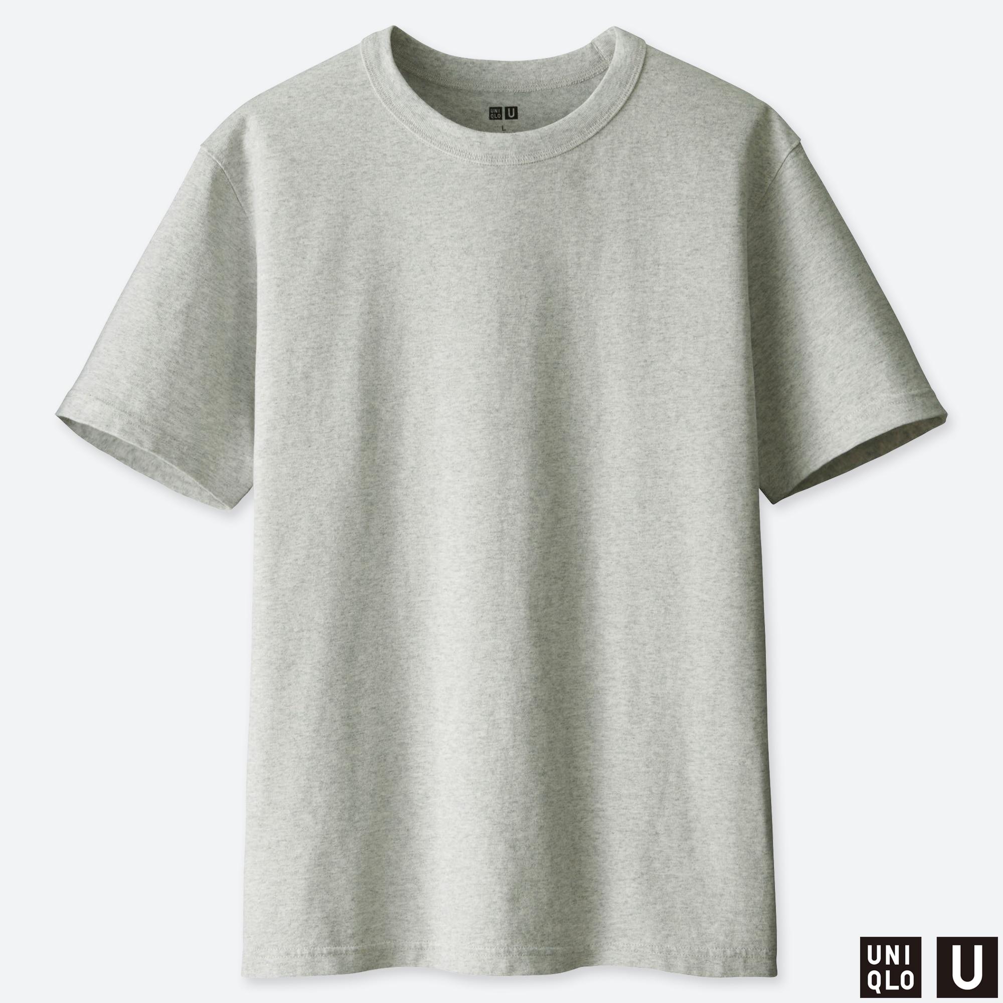 Mens Cool Basic Long-Sleeve Cotton T-Shirt Crew Tee XL Black