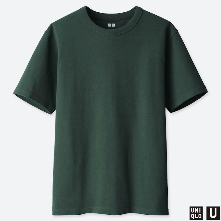 Men U Crew Neck Short-sleeve T-shirt, Dark Green, Large