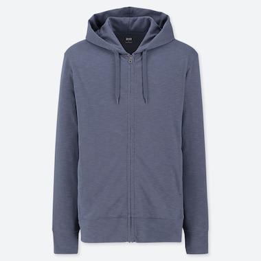 MEN AIRISM UV CUT ZIPPED HOODIE