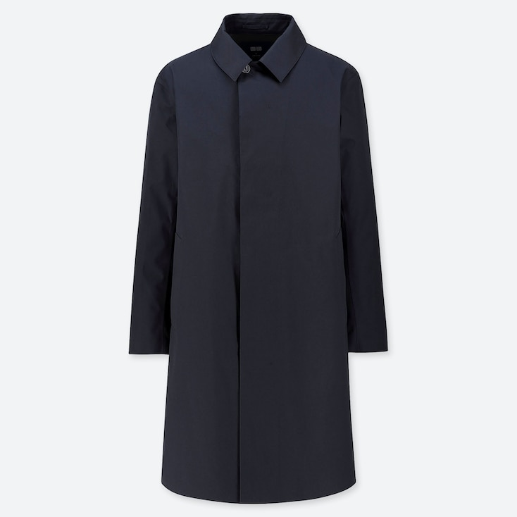 MEN BLOCKTECH SINGLE BREASTED COAT, NAVY, large