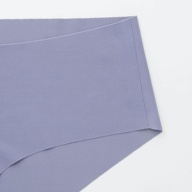 Women Airism Ultra Seamless Hiphugger Shorts, Beige, Large