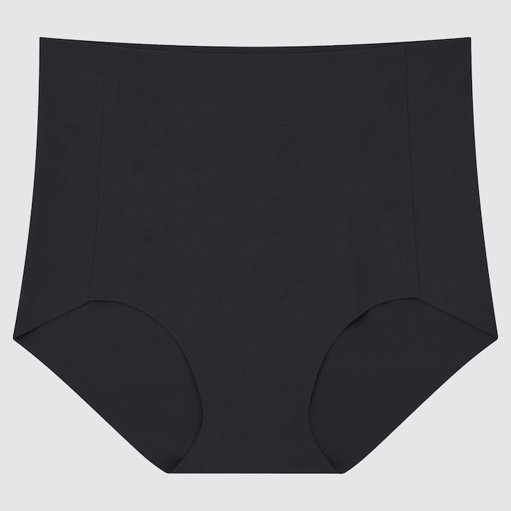 WOMEN AIRism ULTRA SEAMLESS HIGH-RISE BRIEF SHORTS, BLACK, large