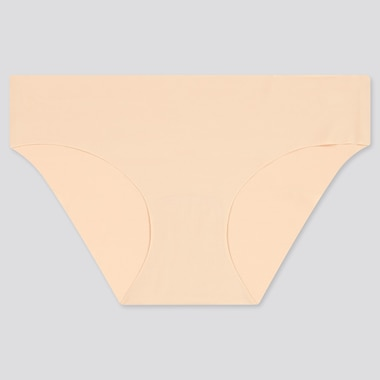 Women Airism Ultra Seamless Bikini Shorts, Beige, Medium