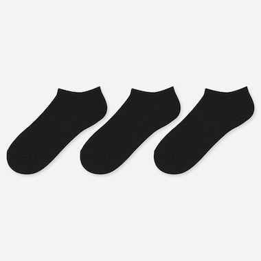 WOMEN SHORT SOCKS (3 PAIRS), BLACK, medium