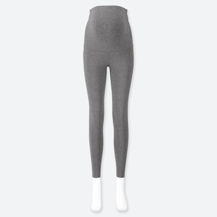 WOMEN MATERNITY LEGGINGS, DARK GRAY, large