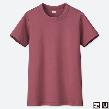 WOMEN UNIQLO U CREW NECK SHORT SLEEVED T-SHIRT