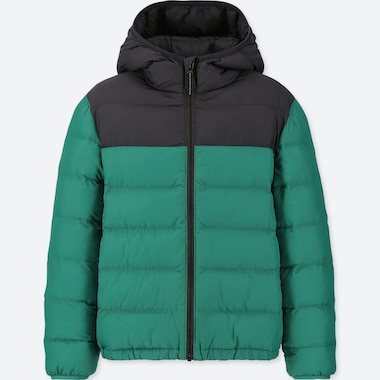 BOYS LIGHT WARM PADDED PARKA (ONLINE EXCLUSIVE), GREEN, medium