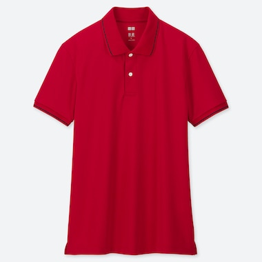 MEN DRY-EX PIQUE TIPPED SHORT SLEEVED POLO SHIRT
