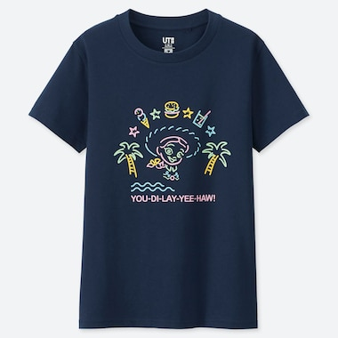 WOMEN PIXAR VACATION UT (SHORT-SLEEVE GRAPHIC T-SHIRT), NAVY, medium