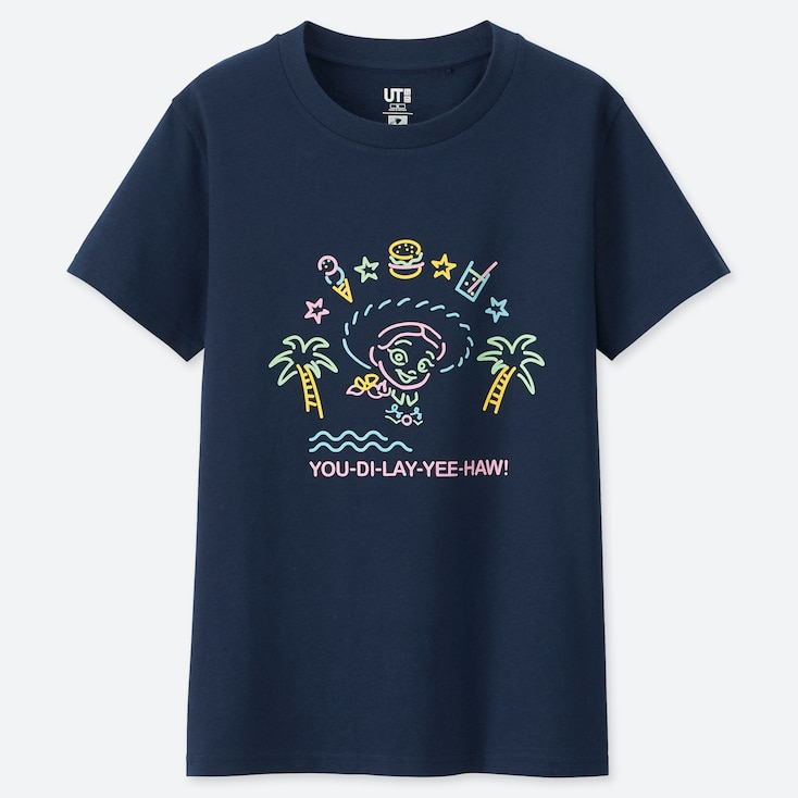 Women Pixar Vacation Ut (short-sleeve Graphic T-shirt), Navy, Large