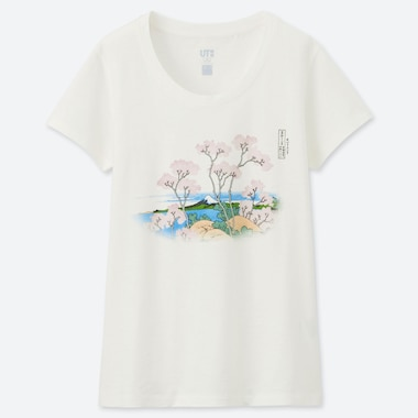 WOMEN HOKUSAI BLUE UT GRAPHIC T-SHIRT