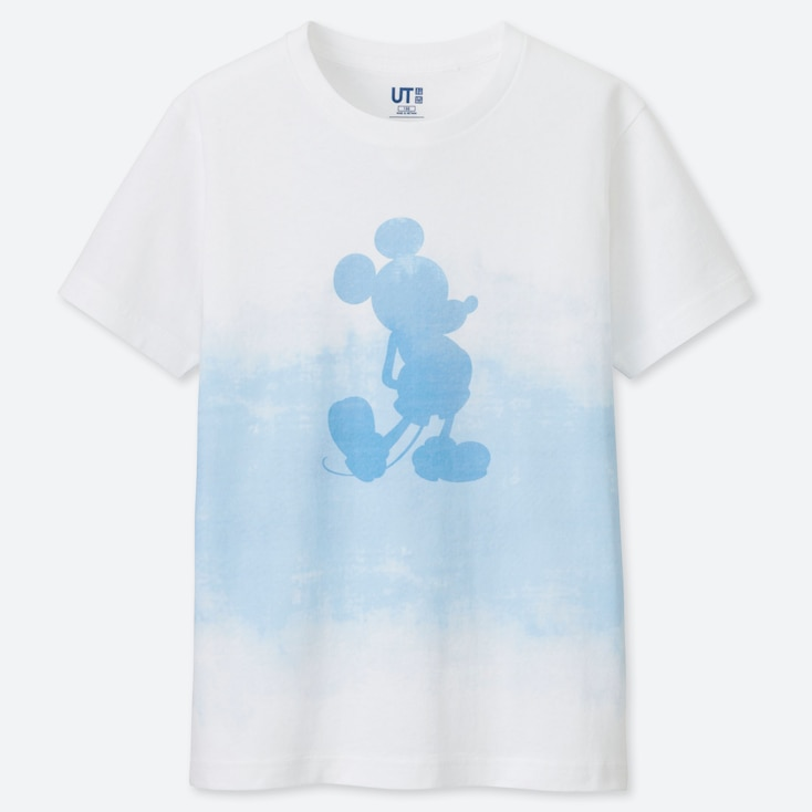 KINDER UT BEDRUCKTES T-SHIRT MICKEY BLUE