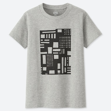 KIDS SUPER GEOMETRIC GEORGE SOWDEN UT (SHORT-SLEEVE GRAPHIC T-SHIRT), GRAY, medium