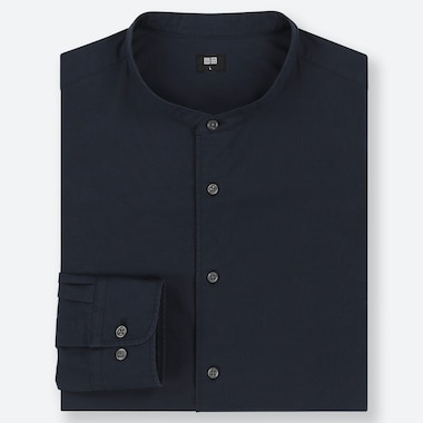 MEN EXTRA FINE COTTON REGULAR FIT SHIRT (GRANDAD COLLAR)
