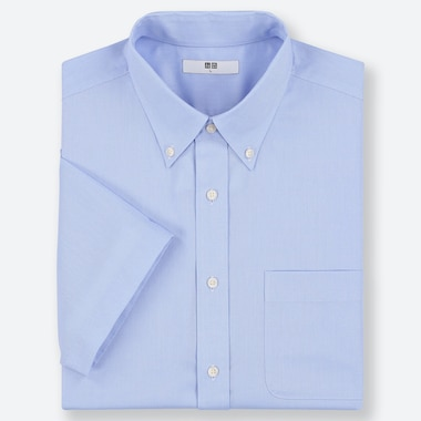 MEN DRY EASY CARE OXFORD SHORT SLEEVED SHIRT