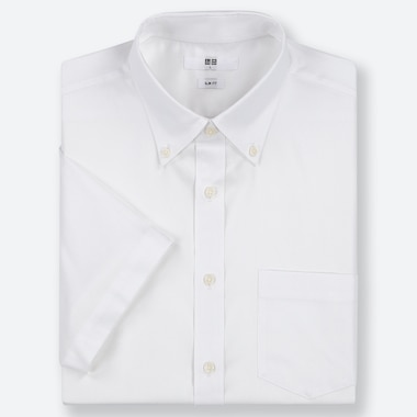 HERREN KURZÄRMLIGES DRY EASY CARE OXFORD-HEMD MIT BUTTON-DOWN-KRAGEN (SLIM FIT)