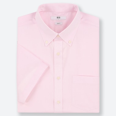 MEN DRY EASY CARE SLIM-FIT SHORT-SLEEVE SHIRT (ONLINE EXCLUSIVE), PINK, medium