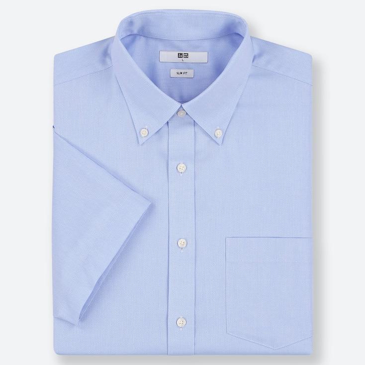 MEN DRY EASY CARE SLIM-FIT SHORT-SLEEVE SHIRT (ONLINE EXCLUSIVE), BLUE, large