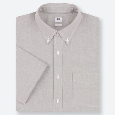 MEN SLIM FIT SHORT SLEEVED OXFORD SHIRT (BUTTON-DOWN COLLAR)