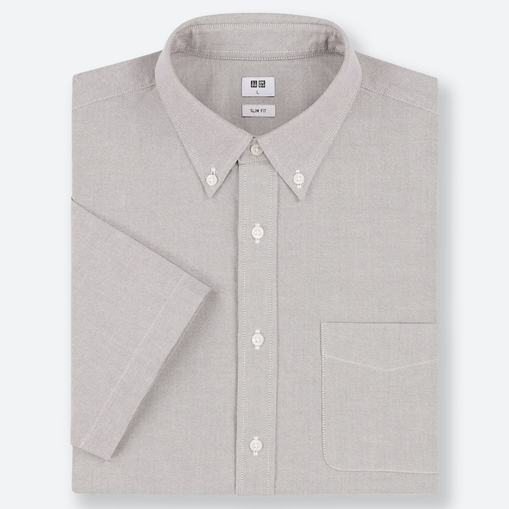 CAMICIA OXFORD SLIM MANICHE CORTE (COLLETTO CON BOTTONI) UOMO