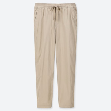 MEN TWILL RELAX ANKLE PANTS, NATURAL, medium