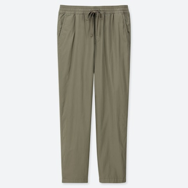MEN TWILL RELAX ANKLE PANTS, OLIVE, medium