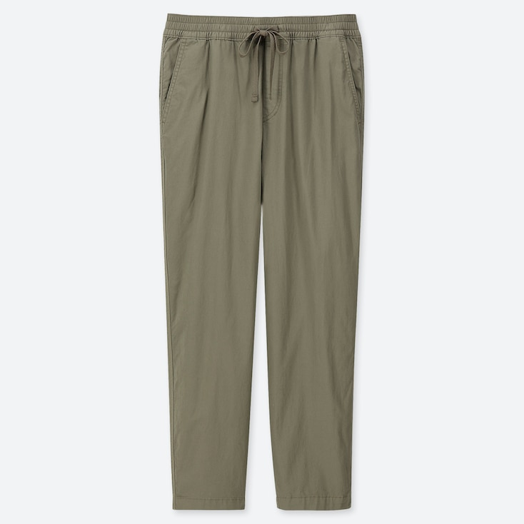 MEN TWILL RELAX ANKLE PANTS, OLIVE, large