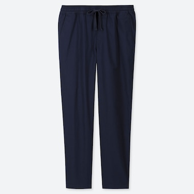 MEN TWILL RELAX ANKLE PANTS, NAVY, medium