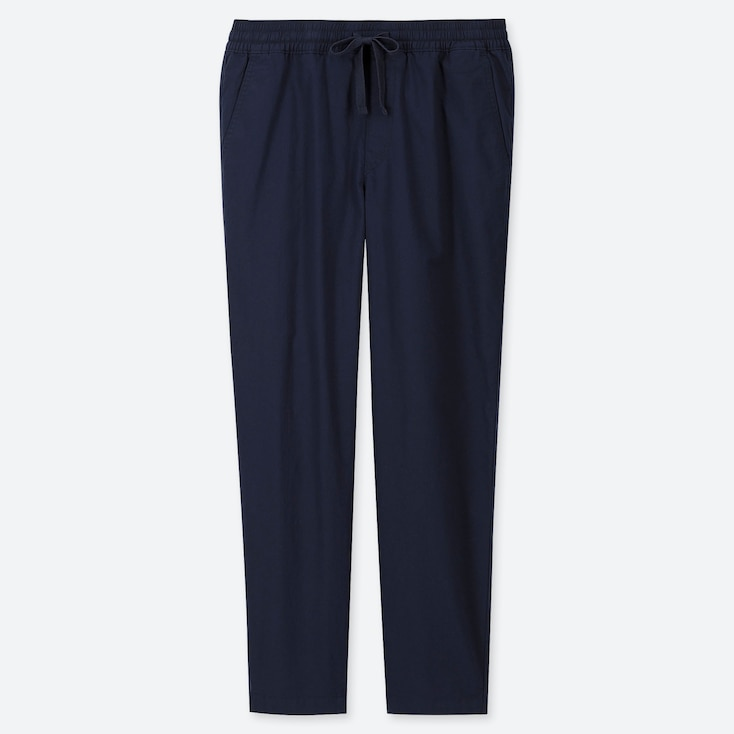 MEN TWILL RELAX ANKLE PANTS, NAVY, large