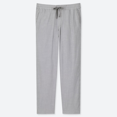 MEN CHAMBRAY RELAX ANKLE PANTS, GRAY, medium