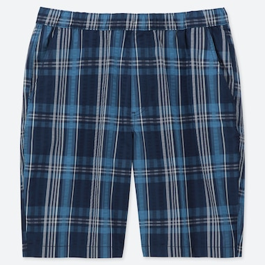 MEN DRY STRETCH CHECKED LOUNGE SHORTS