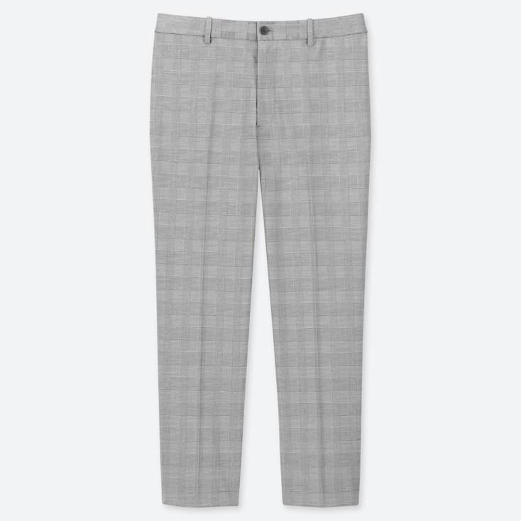 MEN EZY GLEN CHECKED ANKLE-LENGTH PANTS, LIGHT GRAY, large