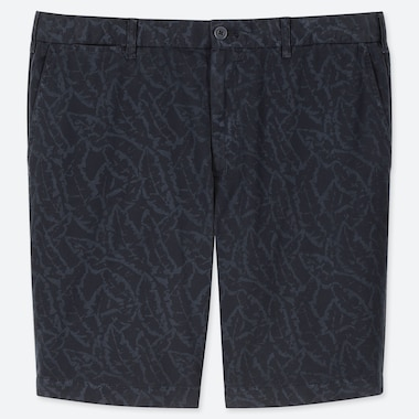 MEN LEAF PRINT CHINO SHORTS
