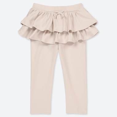 TODDLER FRILL PANTS, NATURAL, medium