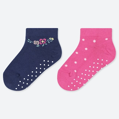 BABIES POINTELLE ANKLE SOCKS (TWO PAIRS)