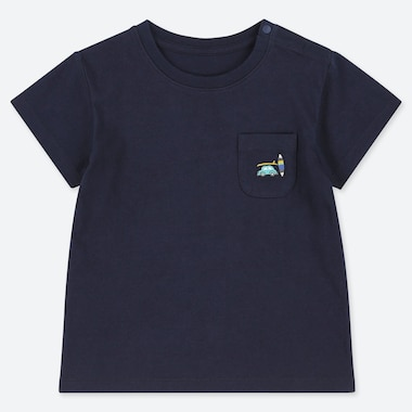 TODDLER CREW NECK SHORT-SLEEVE T-SHIRT, NAVY, medium