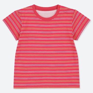 BABIES TODDLER STRIPED CREW NECK T-SHIRT