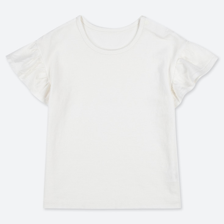 TODDLER CREW NECK SHORT-SLEEVE T-SHIRT, WHITE, large