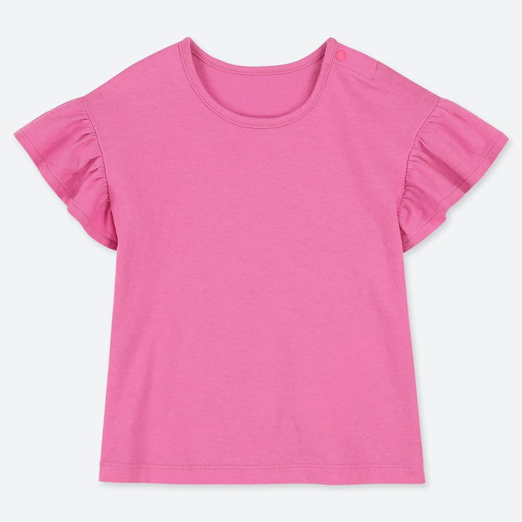 TODDLER CREW NECK SHORT-SLEEVE T-SHIRT, PINK, large