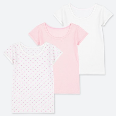 BABIES TODDLER COTTON MESH INNER T-SHIRT (THREE PACK)