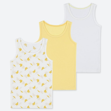 BABIES TODDLER COTTON MESH INNER VEST TOP (THREE PACK)