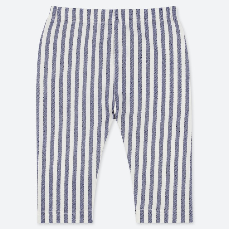 BABIES TODDLER STRIPED CROPPED LEGGINGS