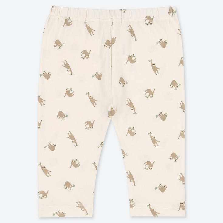 BABIES TODDLER SLOTH PRINT CROPPED LEGGINGS